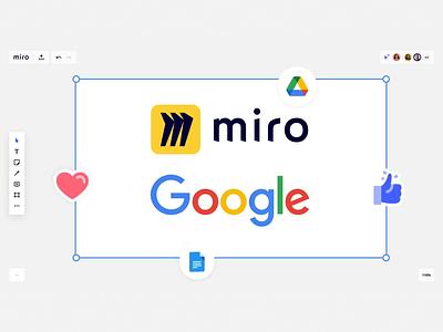 Miro x Google illustration design ux branding logo motion graphics graphic design animation ui