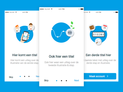 Onboarding tour style google blue flat simple illustration ui ux design onboarding app