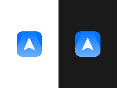 Hallway augmented ui ux logo icon blue simple route 3d iphone ar app
