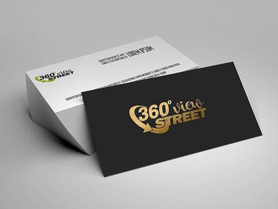 360° Street Virtual Tour design branding logo card