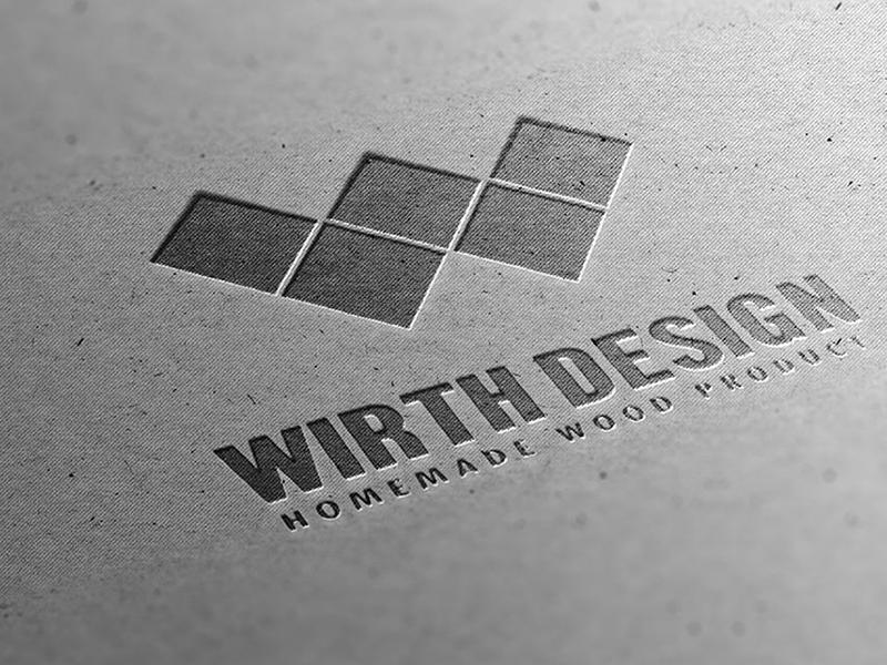 Wirth Design branding vector design logo