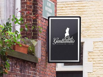 Gentlemen's club branding design logo