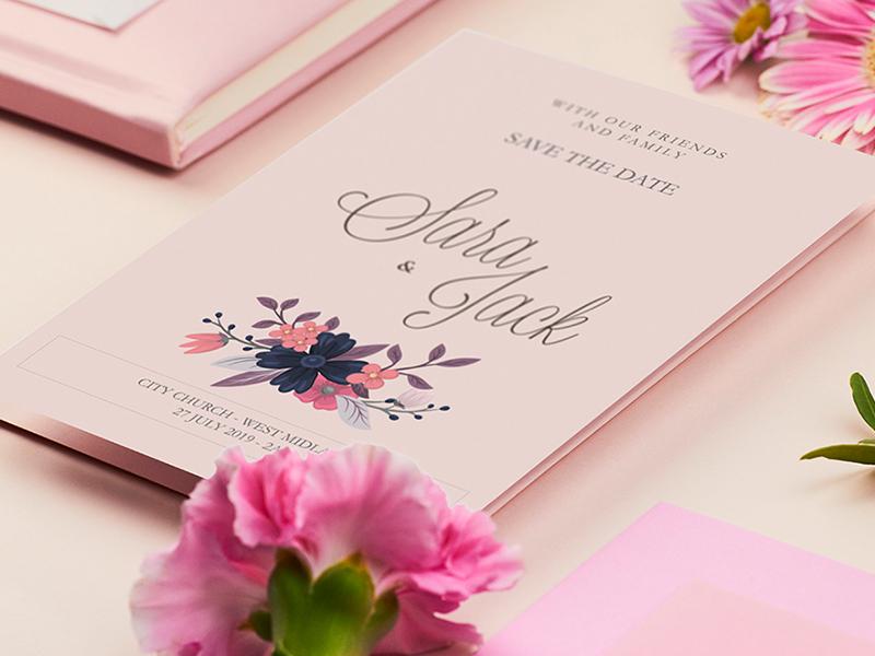 Wedding Card vector design logo logotype wedding card card weddings