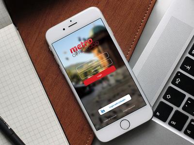 Metro Office App web app logo ux ui branding design