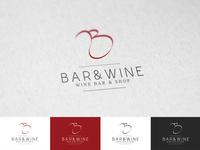 Bar & Wine logo design