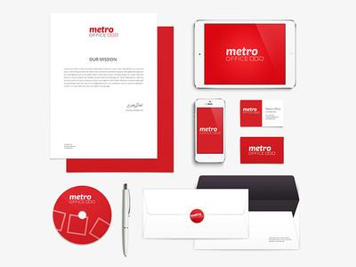 Metro Office branding design logo design logo visual identity brand design brand identity brand