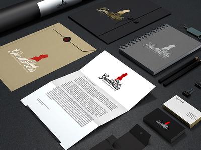 Gentlemen's club typography brand logotype logo design vector branding design logo