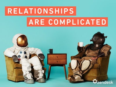 Relationships are complicated bright scuba diver astronaut relationships campaign photography zendesk