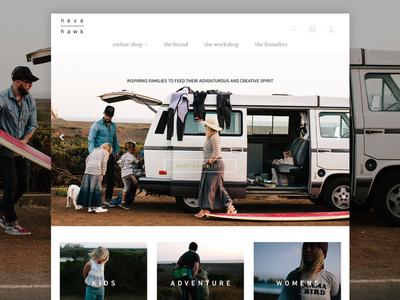 Freshening up kids lifestyle photography grid ecommerce layout web design branding neve | hawk
