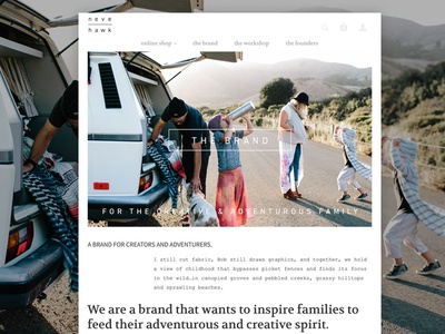 Talking about ourselves is always awkward kids lifestyle photography grid ecommerce layout web design branding neve | hawk
