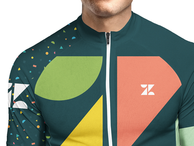 Makes you faster mockup color identity kit jersey cycling branding