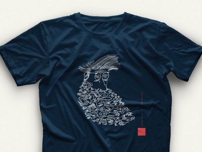 Put it on a shirt hand drawn artist event branding illustration neve and hawk neve | hawk