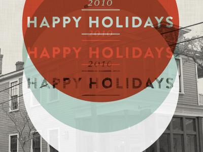 Happy Dribbble holidays vintage