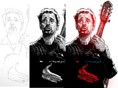 Jonathan Richman illustration editorial illustration pen and ink jonathan richman musician music portrait illustration sketchbook sketch