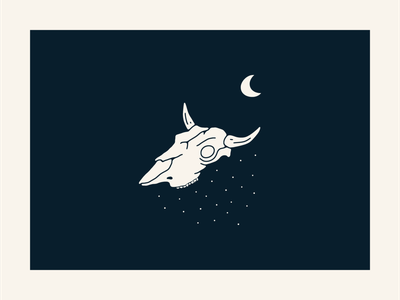 Moonlight Death - Montana logo vector illustrator minimal illustration design