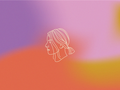 Self Portrait branding minimal illustrator designer gradient logo portrait selfportrait illustration design