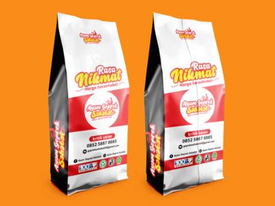 """packaging logo design """"Ayam Geprek Sahabat"""""""