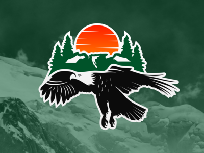 eagle on the mountain