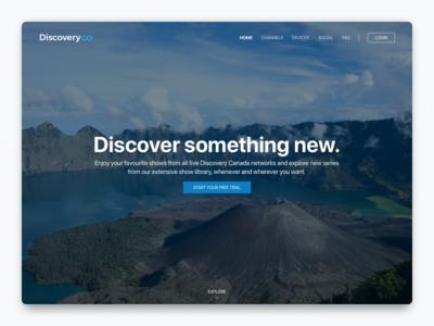 Daily UI #3 dailyui dailyui3 landing explore discoverygo discovery