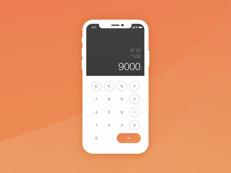 #004 - Calculator challenge calculator ui dailyui 004