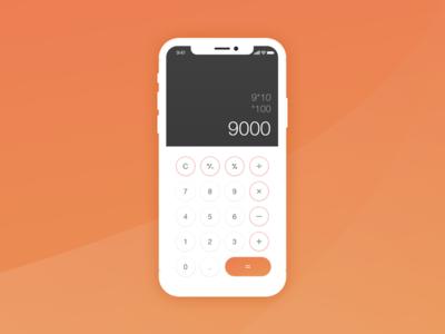 #004 - Calculator challenge calculator ui dailyui 004