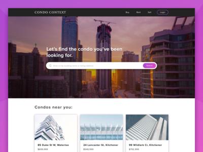 Condo Context unsplash property clean condo page landing ui estate real