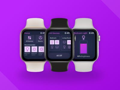 Smart Switch brightness light apple watch toggle switch home smart