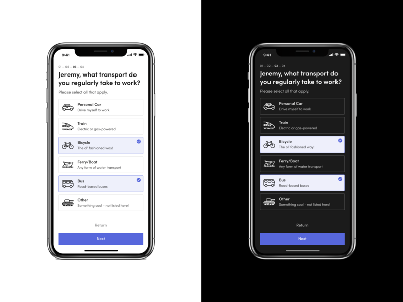 Onboarding - Mobile | Daily UI Throwback