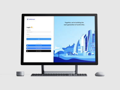 Login Page Design | Daily UI 1 Mockups web app create account sign in form surface mockup desktop blue minimal login login screen login page