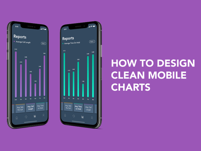 Design Simple Mobile Charts/Graphs how to ios clean reports chart graph mobile app video design ux ui