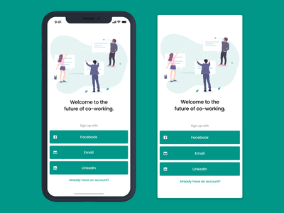Daily UI 1 // Sign Up Screen illustration simple colour design app design landing sign in app mobile sign up green daily ui