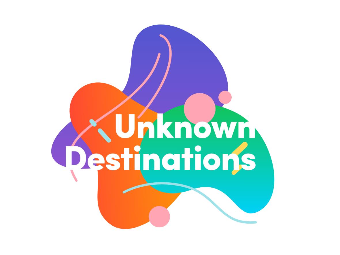 Unknown Destinations cutout organic vector design illustration