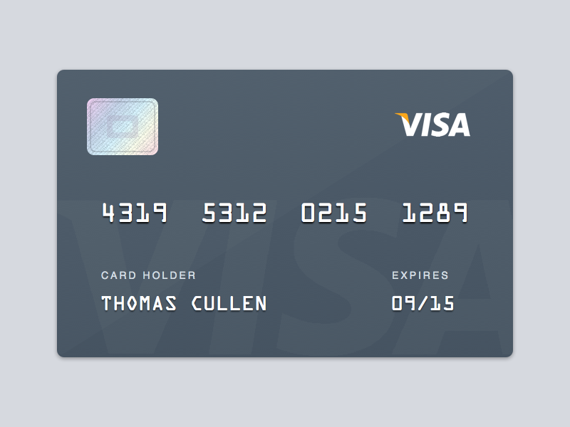 Visa Card visa card credit debit payment money hologram sketch freebie