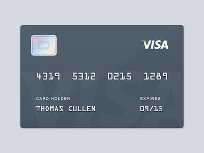 Visa Card visa card credit debit payment money hologram sketch freebie