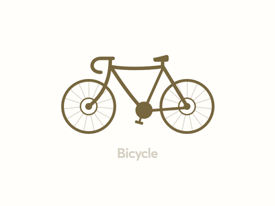 Bicycle lines illustration bicycle