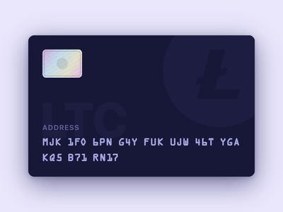 Litecoin Card currency crypto card litecoin