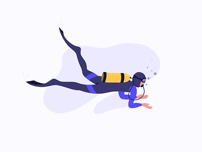Diver diver illustration