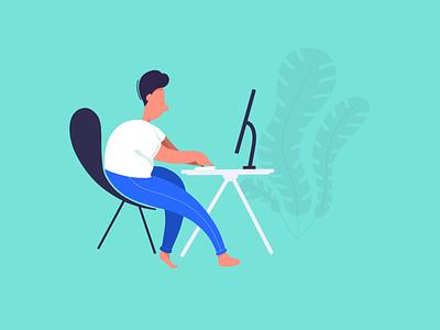 Programming procreate simple minimal illustration