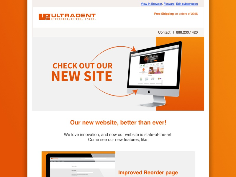 Email Announcement New Site announcement html email