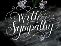 Sympathy Lettering