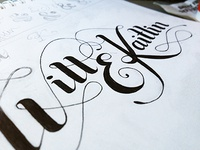 Will & Kaitlin Lettering Sketch