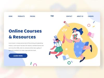 UI Illustration Theme Design|Education education web landing page graphic design ui illustration