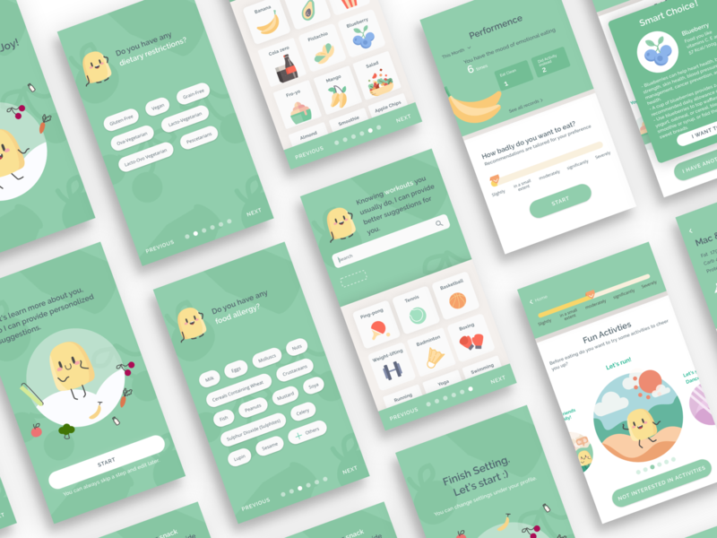 EatJoy App Design ux ui mobile app illustraion
