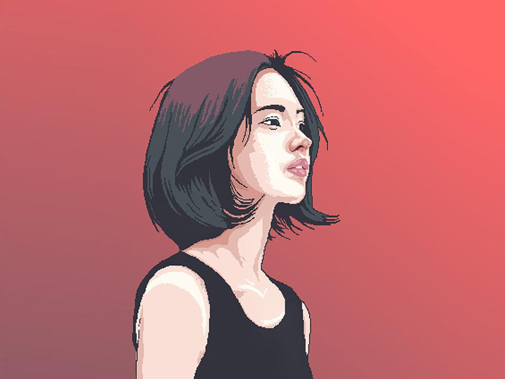 Girl Portrait portrait illustration portait vector illustration adobe illustrator illustration art flatdesign vector illustration illustrator