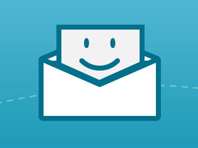 Smiling envelope  illustration icon