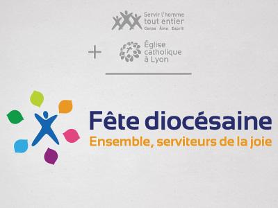 Christian event logo logo logotype religious