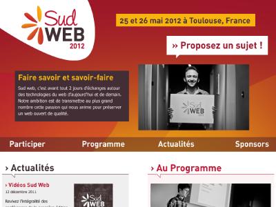Sud Web 2012 responsive event website site conference webdesign web design