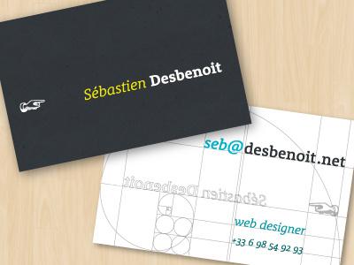 Personal business card business card card fibonacci