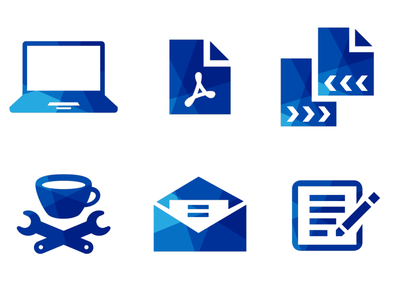 B* - Mozaic icons letter newsletter icon pictogram share pdf mozaic intranet icons pictograms exchange document laptop coffee notepad