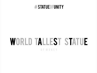 Statue of Unity world largest statue illustration tamilnadu typogaphy minimalart madansingh sardar waste money coimbatore india poster minimal statue statueofunity